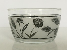 Libbey Frosted Finger Bowl Dessert Silver Wheat Libby Mid Century Style ... - $9.99