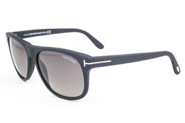 Tom Ford Olivier Matte Black / Gray Polarized Sunglasses TF236 02D - $244.02