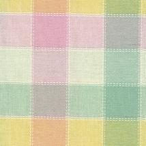 Longaberger Basket Handle Gripper Pastel Plaid Fabric Button Style New I... - $11.83