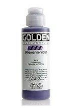 Golden Fluid Acrylics - Ultramarine Violet - 4 oz Bottle - $16.77