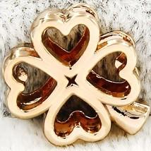 YUKAM Slider Good Luck Hollow Heart Four Leaf Clover Slide Charms Keeper... - $8.35