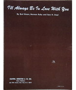 I'll Always be in Love With You- Song Sheet-1929 - $2.50