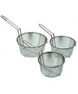 "Update International FB-8 8 1/2"" Round Wire Fry Basket - $10.78"