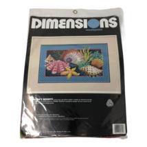 Oceans Bounty Needlepoint Seashells Karen Avery Dimensions Shells Made in USA - $34.64
