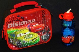 Disney Cars Mc Queen Lead Safe Drink Container & Insulated Lunch Tote Box Set - $27.80
