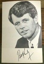 Robert F Kennedy Campaign Flyer 1968 Photo Pre Printed Signature - $3.50