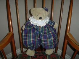 Ganz 1993 Bear Dumpling HX1005 Tartan Outfit 17 Inch - $57.83