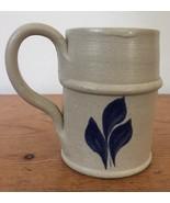Vtg Colonial Williamsburg Pottery Cobalt Salt Glazed Juice Cup Small Ste... - $23.99