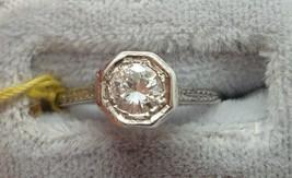 18K White Gold Genuine Natural Diamond Ring .34 Carat (#J745) - $950.00
