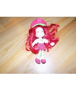 "6"" Scented Strawberry Shortcake Plush Doll Vinyl Head 2008 Hasbro EUC - $15.00"