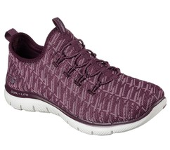 Skechers Flex Appeal 2.0 Insights Plum Womens Slip On Walking Shoes 1276... - $47.99