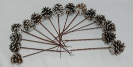 Wholesale lot 15 Pine Cones Snow Like White Tipped Plastic End Pics image 1