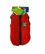 Vibrant Life Dog Jacket Size XS Red Zip Up Team Woof Navy NWT - $10.87