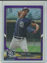 2018 BOWMAN CHROME MEGA BOX PURPLE BCP67 MICHEL BAEZ RC 184/250 PADRES ⚾️ - $4.74