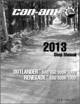2013-2014 Can-Am Outlander X mr / Renegate (500 650 800R 1000) Service M... - $12.99