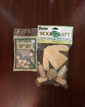 """#      NEW VINTAGE DARICE WOODCRAFT POSEABLE DOLL NO. 9140-33 APROX. 5"""" - $10.00"""