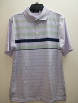 Byron Nelson Men's Performance Golf Polo Shirt, Lt Purple/Navy&Green Stripe - $44.55