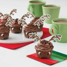 Reindeer Combo Cupcake Kit 24 Baking Cups Picks, Sprinkles Wilton - $4.94
