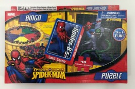 Spiderman Games,BINGO, Card Game-SPIDER 8'S(CRAZY 8's), Puzzle-48 piece, 3in1 - $8.90