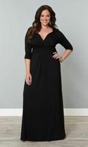 Kiyonna Women's Dress Maxi 1X 14 16 Plus Size Black Desert Rain Style US... - $54.44