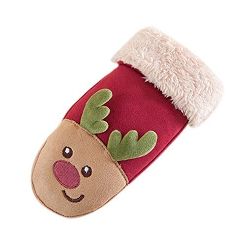RED Christmas Gift Lovely Baby Outfits Unisex Kids Gloves Warm Winter Mittens