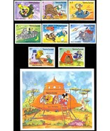 SIERRA LEONE DISNEY'S SPACE FANTASY SET OF 8 PLUS S/S - $12.00