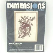 1992 Dimensions Cross Stitch Kit 6631 Native American Indian Linda Scott... - $14.95
