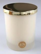 Joy Mangano Fresh Linen Scented Candle Glass w Gold Lid Gift Box image 2