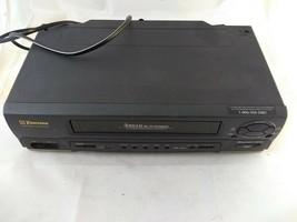 Emerson EWV601B 4 Head Vcr 19 Micron Head. No Remote Not Working PARTS/ Repair - $9.99
