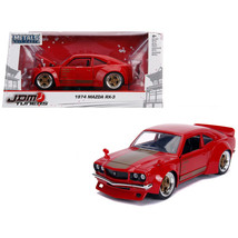 1974 Mazda RX-3 Red with Gold Stripe JDM Tuners 1/24 Diecast Model Car by Jada 3 - $35.93