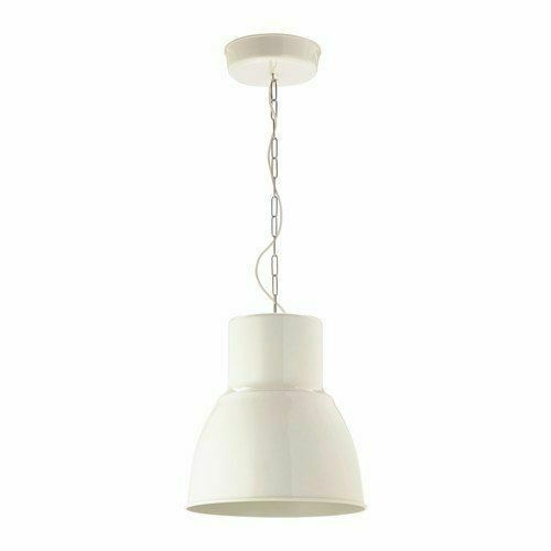 "IKEA HEKTAR White 15"" Ceiling Pendant Lamp, Aluminum, 403.262.28 NEW IN BOX"
