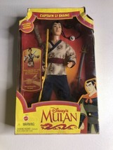 Disneys Mulan Captain Li Shang Figure Doll Mattel 1997 New in Box  - $44.50