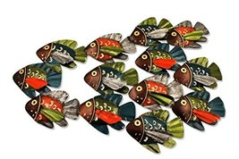 Colorful School of Fish Metal Wall Sculpture - $22.90