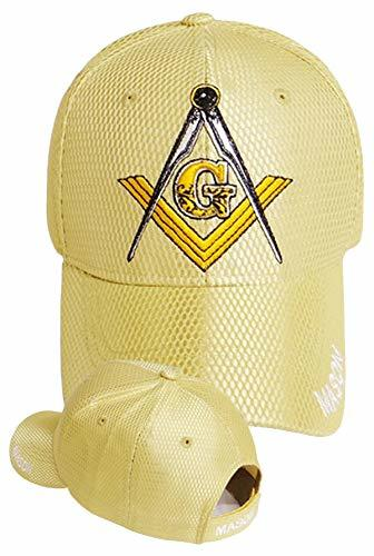 Primary image for Buy Caps and Hats Mason Baseball Cap Golden Tan Embroidered Hat with Masonic Sti