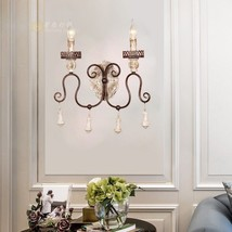 Vintage Victorian Crown Sconce Candle Stick Light Antique Wood & Iron Lighting - $136.62+
