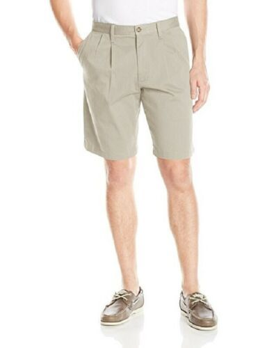 "29"" Dockers Men's Perfect Shorts D3 Classic-fit Stretch Pleated 10.5"" Inseam"