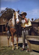 Roy Rogers Trigger TKK Vintage 16X20 Color Country Music Memorabilia Photo - $29.95