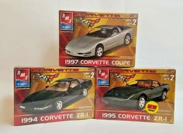AMT-ERTL Corvette 1995 ZR-1, 1997 Coupe, 1994 ZR-1 Model Kit Lot: FACTOR... - $64.35