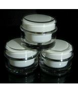 25 Acrylic Cosmetic Cream Jars Beauty Containers w/ Sealing Disc - 50ml ... - $109.95