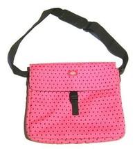 DICKIES Workwear Pink Black Polka Dot Laptop Messenger Bag  - $36.63