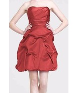 David's Bridal Women's Plum Bubble Strapless Bridesmaid/Party Dress Size 12 - $24.11
