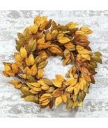 """Harvest FIRST FALL WREATH Country Farmhouse Autumn Leaf 21"""" - $47.49"""