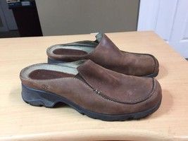 Timberland Mules Brown Leather Women Shoes Size 7 Medium - $9.95
