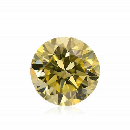 Primary image for 0.60Cts Fancy Intense Yellow Loose Diamond Natural Color Round Cut GIA Cert