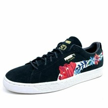 Puma Womens 11 50th Suede Hyper Embellished Floral Sneakers Shoes Black ... - $48.53