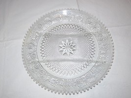 "Vintage Tiara Indiana Glass Clear Sandwich 3 Part Divided Relish 12"" Tray ~ - $49.49"
