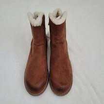 American Eagle Outfitters Women's 10 Ankle Boots Suede Brown Rear Lace Up NWT - $29.69