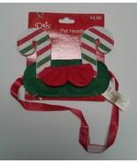 Candy Cane Pet Headband New Christmas holiday Clothing green festive dog... - $5.00