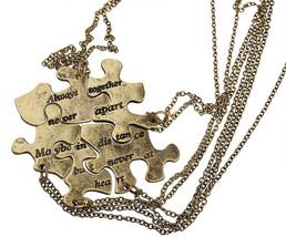 Lux Accessories Burnish Gold Always Together Puzzle Best Friends BFF Nec... - $31.17