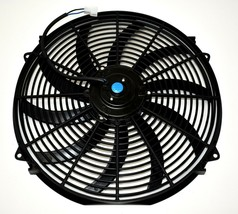 "A-TEAM 130031 16"" Heavy Duty 12V Radiator Electric Wide Curved S Blade FAN 3000 image 2"